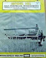 MM 101 swather b&w