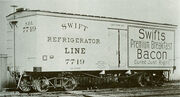 One of the first cars out of the Detroit plant of American Car & Foundry - Built 1899 for Swift Refrigerator Line - Chicago Historical Society