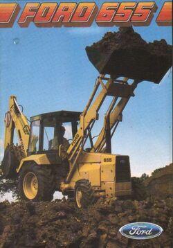 Ford 655 backhoe brochure - 1985