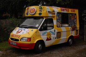 Ice Cream Van at Heath Village Fete, Derbyshire