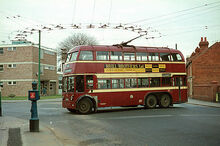 Reading Trolleybus at Three Tuns