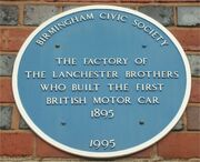 Blue plaque to Lanchester brothers