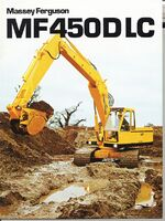 MF 450 DLC excavator