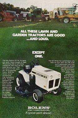 Bolens QT-16 ad - 1973