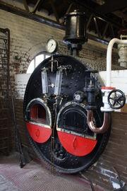 Lancashire boiler at Ellsmereport canal museum - 2011 - IMG 1218