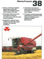 MF 38 combine brochure