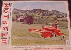 Hesston 310 swather - 1968