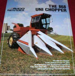 New Idea (AVCO) 868 Uni Chopper forage harvester brochure
