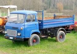 Renault truck blue