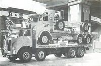 A 1960s GUY Goliath Flatbed Lorry