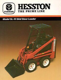 Hesston SL10 skid-steer brochure - 1988