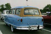 1952 Nash Rambler blue wagon rear