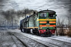 2TE10U Russian Locomotive