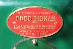 Aveling & Porter no. 7838 - Fred Dibnah plaque - IMG 8951