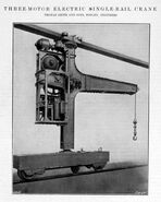 A 1910 Smith Of Rodley 3 Motor Electric Railcrane