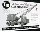 A 1950s ALLEN T10 Cranetruck Hydraulic Diesel
