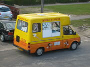 A British Ford Transit Ice Cream Van