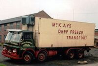 A 1970s GUY Invincible 8X4 Freezer Boxvan