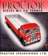 A 1940s Proctor Lorry Diesel MK1 6 Ton