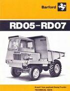 A 1960s Aveling Barford RD05 Dumptruck Diesel