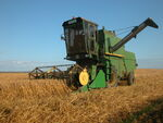 John Deere 955 combine harvester, Orkney Islands