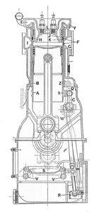 Knight-Daimler engine, transverse section (Rankin Kennedy, Modern Engines, Vol III)