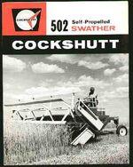 Cockshutt 502 swather brochure - 1965