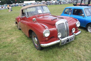 Daimler New Drophead Coupe HGW 532 of 1955 at Lister Tyndale 09 - IMG 4669