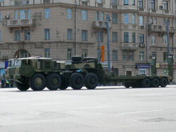 2008 Moscow Victory Day Parade - MAZ-537 tank transporter