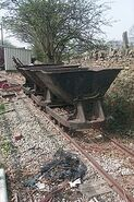 1950s Preserved Hudson Mining Tippers at Embsay Railway Sation