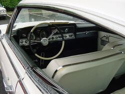 1965 AMC Marlin white 6 NJ interior