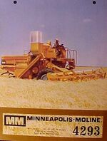 MM 4293 combine w o cab brochure - 1969