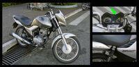 3 Views Honda Flex Titan CG 150 Mix Fuel Injection 06 2009 Itu