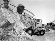 A 1970s Weatherill 42H Loader Diesel working in a quarry