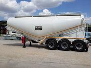 Banana type cement bulk trailers