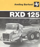 A 1980s Aveling Barford RXD125 6X6 ADT Diesel