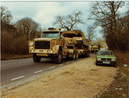 A 1980s Scammell S24 6X6 Military Tank Transporter