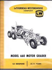 LeTourneau-Westinghouse 660 grader brochure