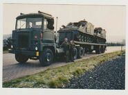 A 1970s Scammell Crusader Military Tank Transporter