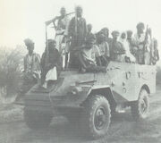 Royalists on armored car