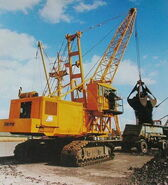 A 1980s Smith Of Rodley E4000LW Crawler Excavator Diesel