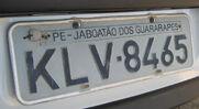 PE-Kennzeichen-KFZ-hinten