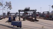 Intermodal ship-to-rail transfer