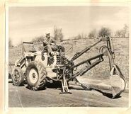 A 1950s Whitlock Brothers 105 Roadless Backhoe Diesel
