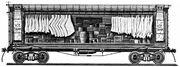 Early refrigerator car design circa 1870