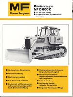 MF D 600C crawler b&w brochure