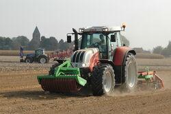 Steyr 6195 CVT tractor, Werktuigendagen 2009