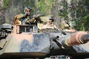 Turret of Australian M1A1 Abrams tank