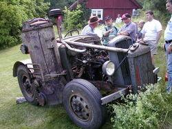 Wood gasifier on epa tractor