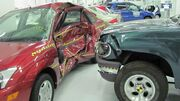 Ford Focus versus Ford Explorer crash test IIHS